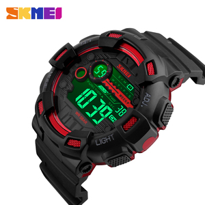 Image 1 - SKMEI Japan Digital movement Men Sport Watches LED Display Male Wristwatch 50m Waterproof Stopwatch Clock Relogio Masculino 1243