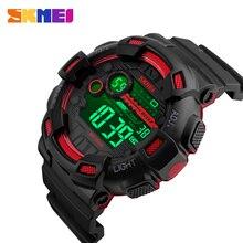 SKMEI japonia cyfrowy ruch mężczyźni Sport zegarki wyświetlacz LED męski zegarek 50m wodoodporny stoper zegar Relogio Masculino 1243