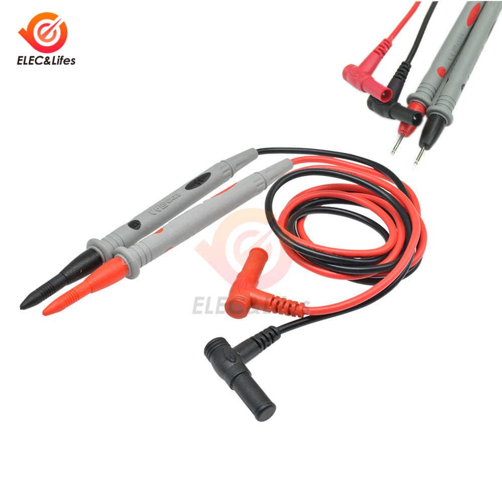 1 par de multímetro Digital Universal 1000V 10A 20A aguja de punta fina multímetro de prueba de plomo Sonda de Cable de pluma de Cable multímetro probador