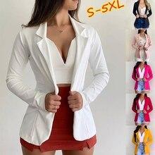 Women Blazer Spring Autumn Single Button Blazers Office Lady