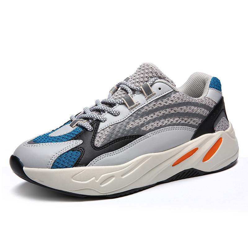 Chaussures hommes kanye west 700 hommes chaussures décontractées ultra boosts chaud fond épais nuit lueur baskets hommes zapatillas hombre grande taille 47