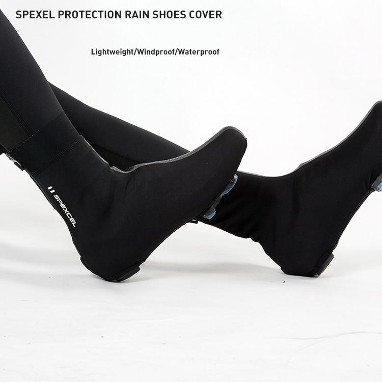 SPEXCEL tout nouveau pro team couvre-chaussures de pluie léger course coupe-vent softshell chaussures couverture pour les conditions froides et humides