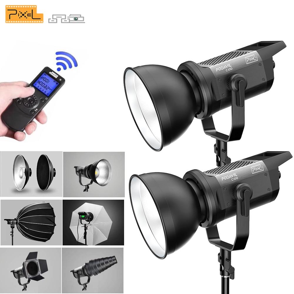 Freies DHL Pixel LED Video Licht C100 Beleuchtung Scheinwerfer 5600K mit Fernbedienung Bowens Halterung für Studio Video Aufnahme