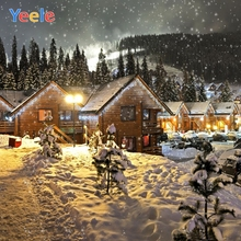 Yeele Christmas Backdrop Happy New Year Winter Snow House Forest Newborn Baby Photography Background For Photo Studio Photocall