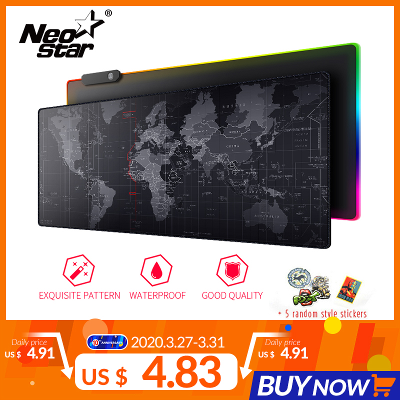 NEO STAR Gaming Mouse Large Mouse Pad Gamer Old World Map Notebook Computer Mousepad Mats Office Desk Resting Surface Mat Game
