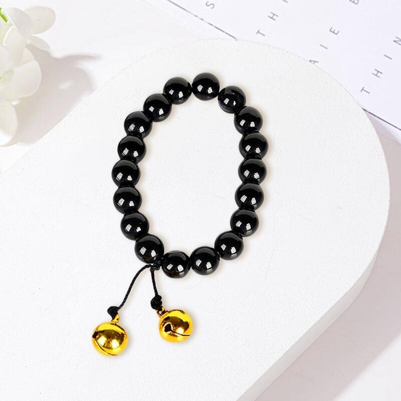 Купить браслет из черных бусин для косплея аниме hell girl jigoku shoujo