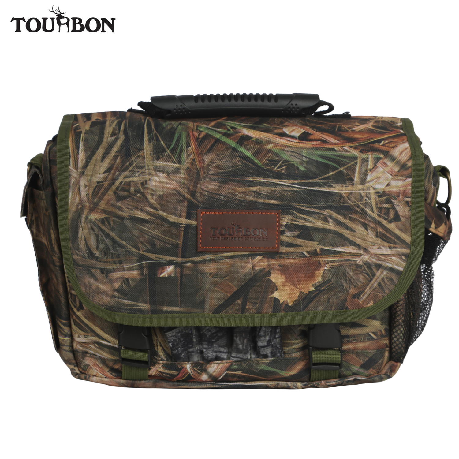 Tourbon Tactical Hunting Camo Cartridges Ammo Shells Bag 12/16 Gauge Holder Speed Game Loader Shooting Case Gun Accessories