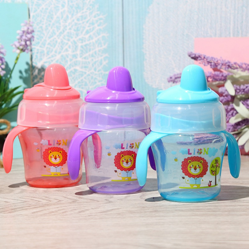 120ML Cups Baby School Cartoon Water Drinking Bottles Infant Sippy Cups Duckbill Mouth Shape For Feeding Baby Training Bottles