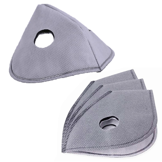 5pcs Face Mask Filter Paper Activated Carbon Filter Anti Allergy Flu Dustproof For Double Respirator PM2.5 Mouth Mask 3