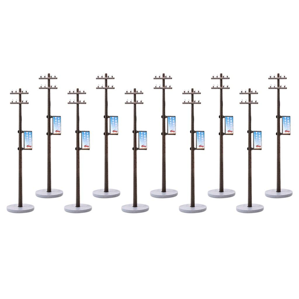10/conjunto 187 mini linha elétrica pólo para o trem ferroviário rua layout ho