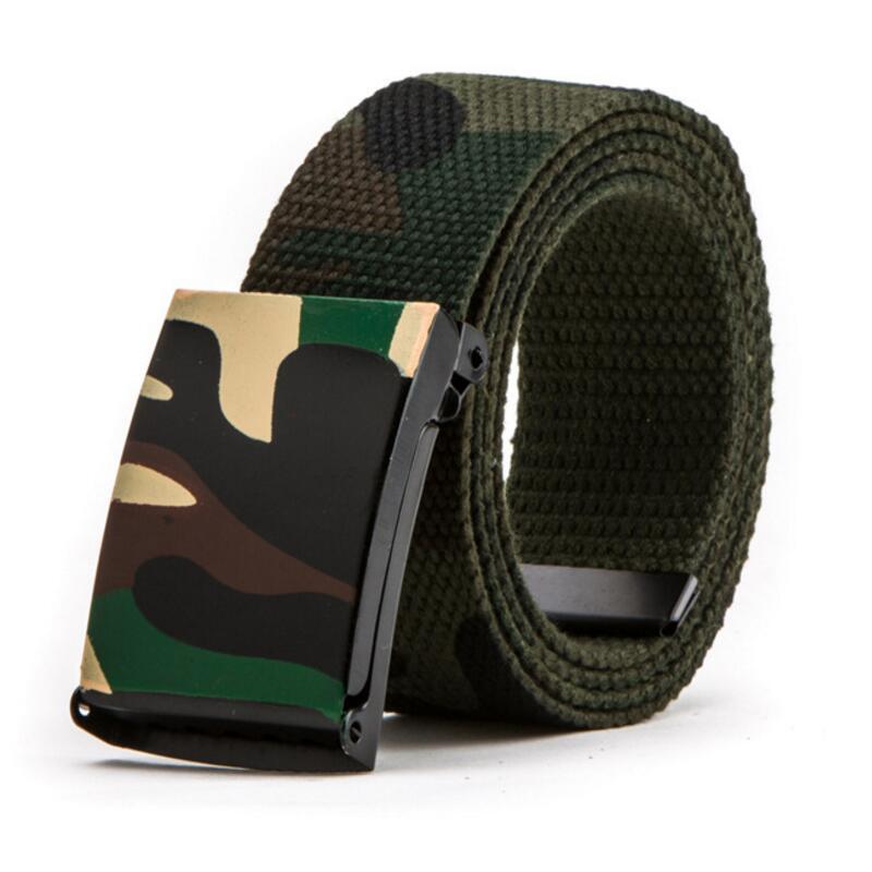 New Men Women Camouflage Canvas Belt  Luxury Brand Belt Nylon Heavy Paintball Waist Belt Unisex Tactical Jeans Belts 95cm-130cm