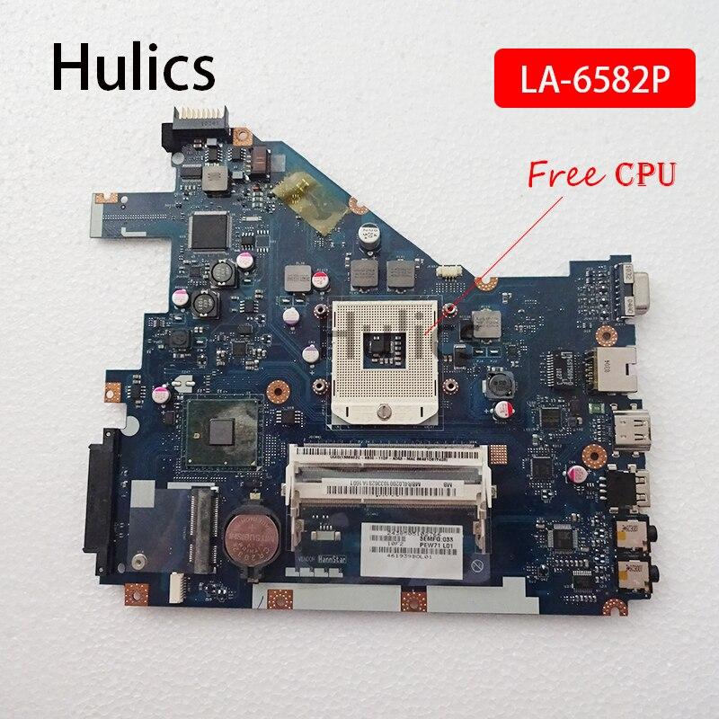 Hulics Original Main Board For Acer Aspire 5742Z 5742 5733 5733Z Laptop Motherboard PEW71 LA-6582P HM55 DDR3