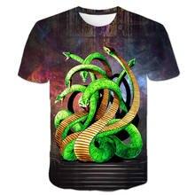 Футболка со змеиным динозавром для мальчиков детская футболка