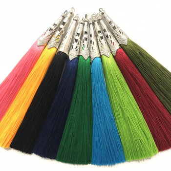 10pcs 14cm Polyester Silk Tassel Brush for Earring Charm Making Tassels Pendant Diy Jewelry Making Accessories Handmade Crafts gufeather l31 2cm tassel cotton tassel bursh golden ring earring tassels jewelry accessories diy accessories jewelry making
