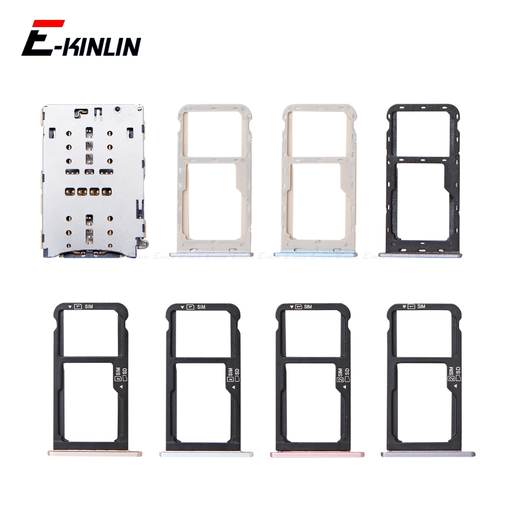 Sim Card / Micro SD Card Tray Socket Holder Slot Container Connector Adapter Reader Replacement Parts For HuaWei Honor 6C 5C Pro