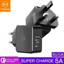 MCDODO EU/Anh Adapter Sạc USB 5A Sạc Siêu Nhanh SCP Cho Huawei P30 Giao Phối 20 Pro Điện Thoại Di Động sạc VOOC Cho OPPO Xiaomi