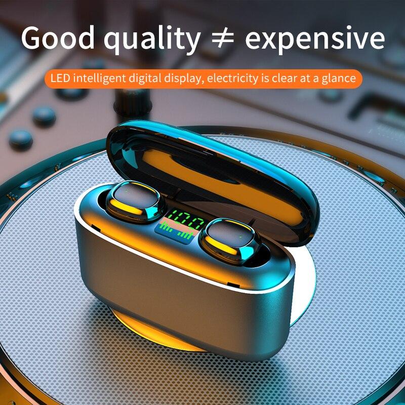 3500mah TWS Bluetooth Earphone With Microphone 5.0 LED Display Wireless Bluetooth Headphones Earphones Waterproof Gaming Headset