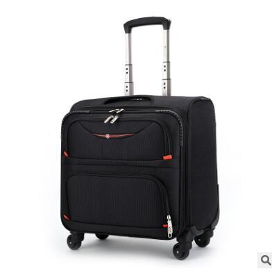 Valise à roulettes pour hommes de 18 pouces Oxford sac à bagages cabine trolley valise voyage bagages à roulettes sur roues sacs à roulettes