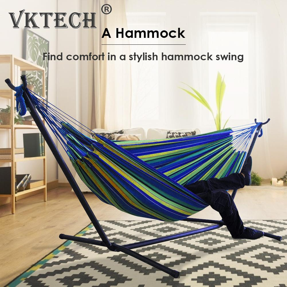 Portable Canvas Hammock Multi functional Practical Convenient Camping Sleep Swing Hanging Bed Garden Furniture No Stand|Hammocks| - AliExpress