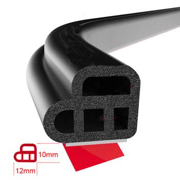 L-type drzwi samochodu gumowy pasek uszczelniający dwuwarstwowe uszczelnienie naklejki samoprzylepne izolacja samochodowa uszczelka akcesoria do wnętrz samochodowych tanie i dobre opinie LARATH 0 5cm 1 2cm Wypełniacze Kleje i uszczelniacze 0 9kg BC-785200 Car door seal strip Rubber Universal for all the cars