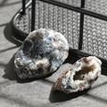 1 шт. кластер, натуральные кристаллы, Исцеляющие камни, натуральный агат, геодезированный кварц, нарезка DIY, минеральная руда, необработанный...