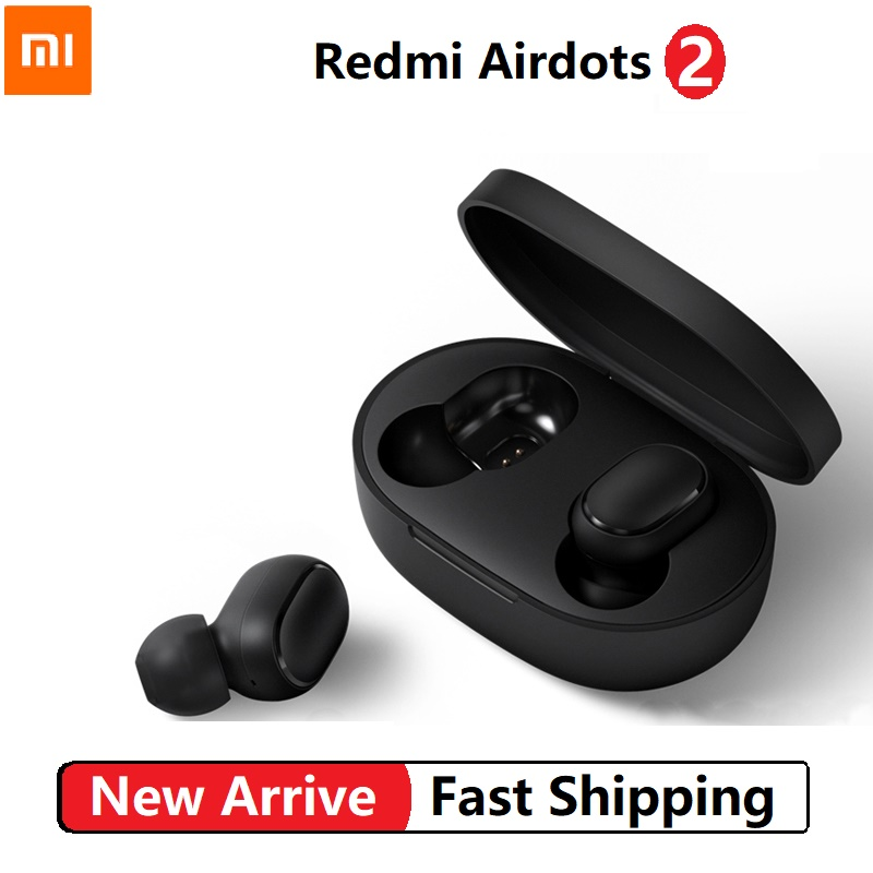 Xiaomi Redmi AirDots 2 TWS Wireless Stereo Bluetooth 5 0 Earphone Noise Reduction Handsfree AI Voice Control Generation 2