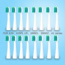 LANSUNG насадки для зубных щеток сменные насадки для электрической зубной щетки для U1 A39 A39plus A1 SN901 SN902 зубная щетка для гигиены полости рта 4