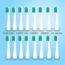 Cabeças de escova de dentes lansung substituição cabeças escova de dentes elétrica para u1 a39 a39plus a1 sn901 sn902 higiene oral cabeça escova de dentes 4