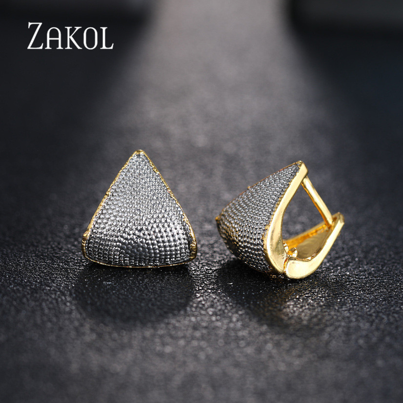 ZAKOL Brand 5 Color Unique Fashion Originality Geometric Jewelry Earrings For Woman Charm Wedding Party Jewelry Gift FSEP2429