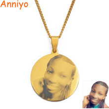 Custom Photo Print Pendant Necklace Men Women Boy Girls,Engraving Print Portrait Birthday Wedding Personalized Picture #117921(China)