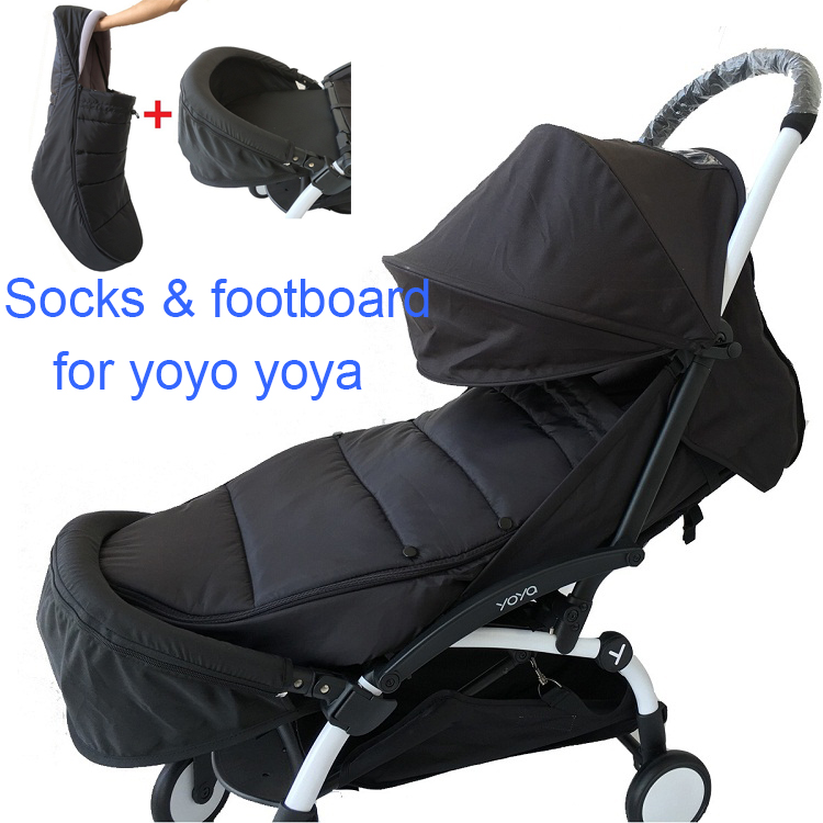 Baby Stroller Accessories Winter Footmuff Warm Sleeping Bag With Waterproof Function And Extend Foot Board For Babyzen Yoyo Yoya