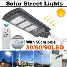 Lámpara de pared de seguridad con Sensor de movimiento, para exteriores, jardín, Plaza, 40W/80W/120W, 90 farola Solar LED, 50cm, 2000LM