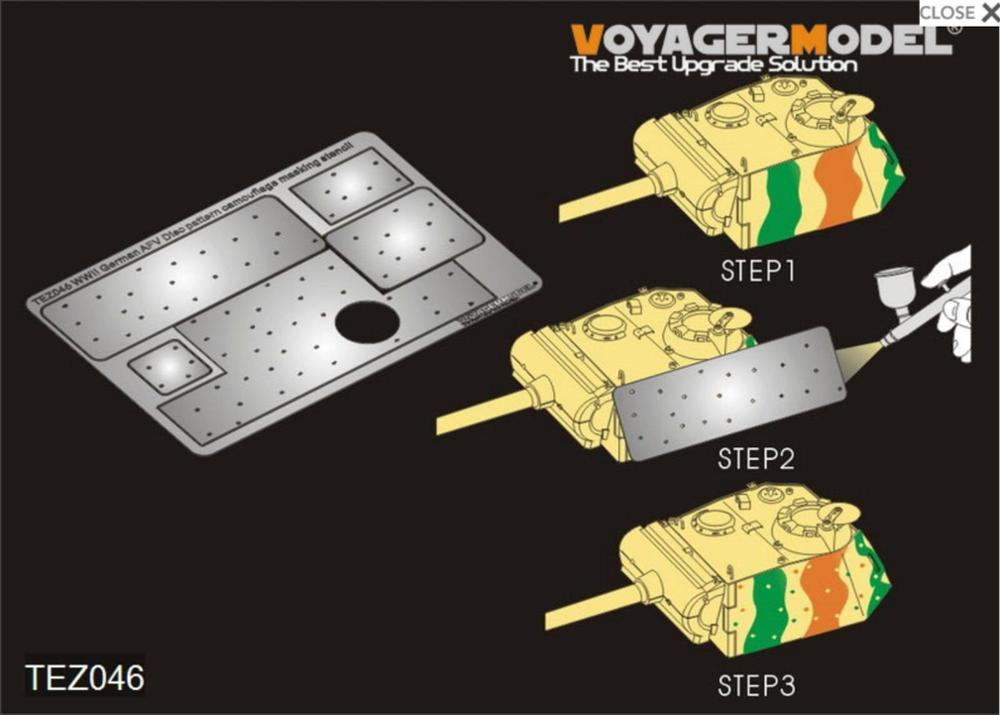 VOYAGER TEZ046 1/35 WWII German AFV Disc Pattern Camouflage Masking Stencil 2 GP