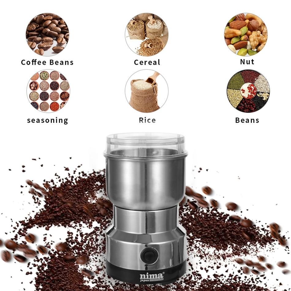 Coffee Grinder Electric Mini Coffee Bean Nut Grinder Coffee Beans Multifunctional Home Coffe Machine Kitchen Tool EU Plug