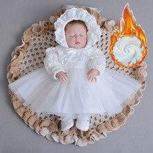 Платье для маленьких девочек зимние платья-пачки для новорожденных, детская одежда на свадьбу, крестины, вечеринку платья для маленьких девочек на 1 год, день рождения, крещение