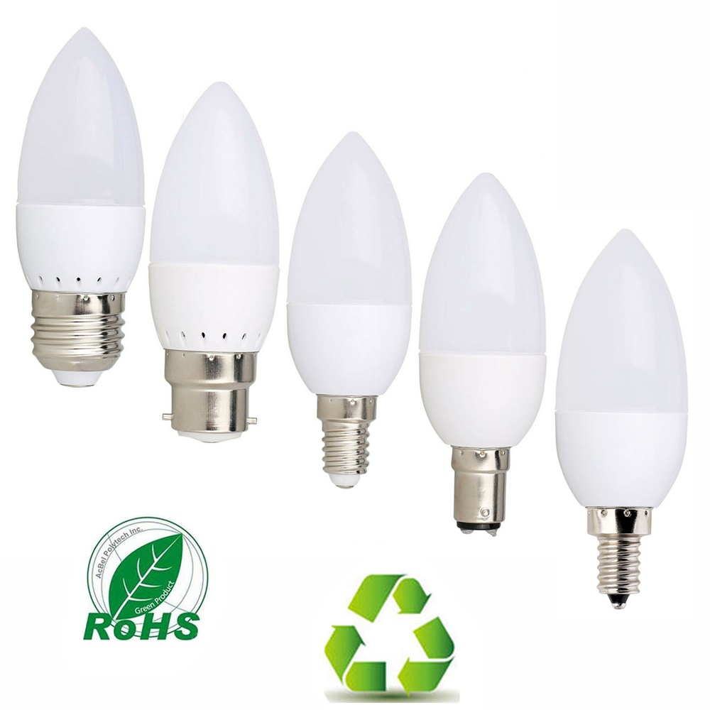 3W LED Candle Bulb E14 E27 E12 B22 B15 110V 220V 2835 SMD Chandlier Lamp Ampoule Bombillas Home Lights Replace 20W Halogen Lamps