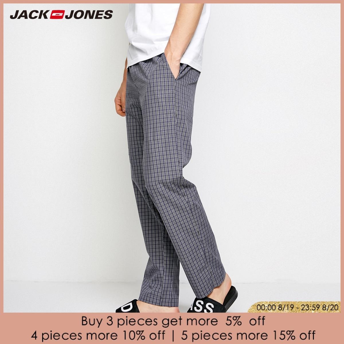 Pants Jones Cotton Summer Spring Casual New Plaid Jack Trousers 2183HC501 Men