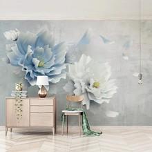 Personalizado moderno criativo 3d estereoscópico em relevo flores fresco quarto sala de estar adesivo mural papel parede decoração da sua casa à prova dwaterproof água