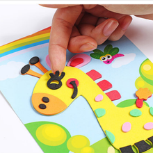 7Pcs 3D EVA Foam Sticker Puzzle Game DIY Cartoon Animal Learning Education Toys For Children Kids Multi-patterns Styles GYH