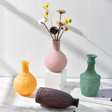 Винтажная цветная матовая рельефная ваза макарон свежая стеклянная