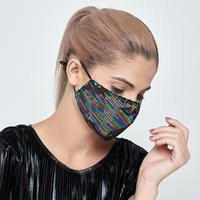 5Set Breathable Face Mas With Filters Cotton Floral Prints Reusable Washable Masks Face Unisex Dust-proof Mouth Cover Mask 2