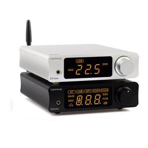 Image 3 - TOPPING DX3 Pro v2 LDAC HIFI USB DAC Bluetooth 5.0 wyjście słuchawkowe dekoder dźwięku XMOS XU208 AK4493 OPA1612 DAC DSD512 optyczny