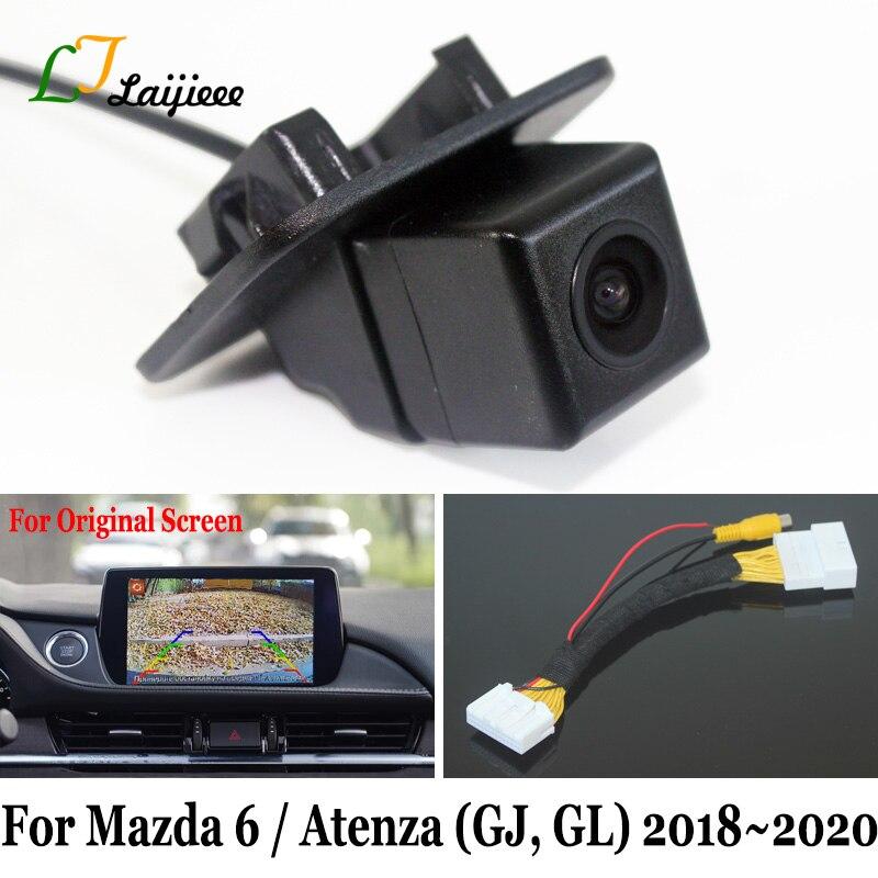 For Mazda 6 Sedan Atenza GJ GL Facelift 2018 2019 2020 / 28 Pin Interface For OEM Monitor / 6V HD Car Rearview Reverse Camera