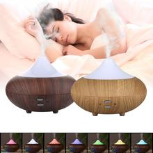 LED 7 Colour USB Electric Aroma air diffuser wood Ultrasonic air humidifier Essential oil Aromatherapy cool mist maker for home 400ml mini air humidifier usb aroma essential oil diffuser cool mist maker led usb air humidifier 3 in 1 aromatherapy for office