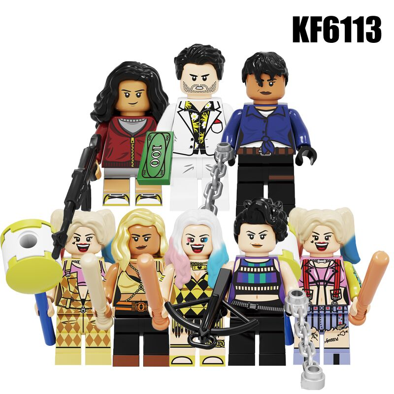 KF6113 Building Blocks Super Heroes Birds Of Prey Harley Quinn Huntress Cassandra Cain Question Mask Figures For Children Toys