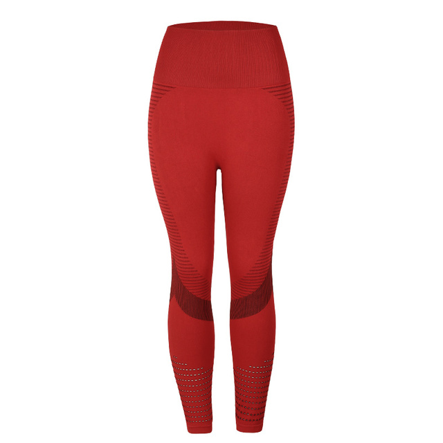 SVOKOR High Waist Fitness Leggings Women Sexy Seamless Leggings Hollow Printed Workout Pants Push Up Slim Elasticity 6