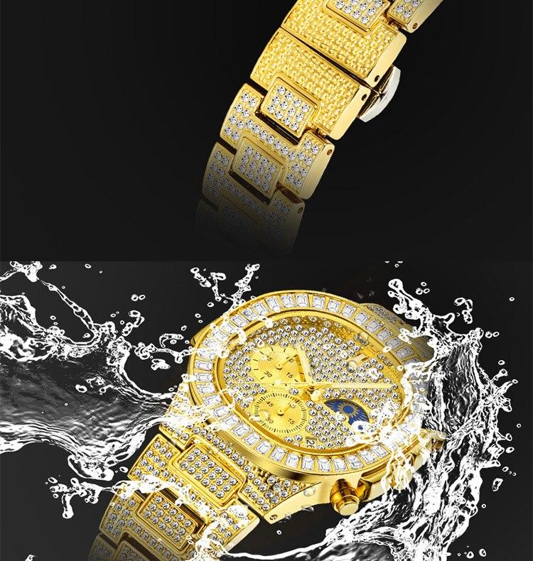 Missfox relógios masculinos marca de luxo relógio