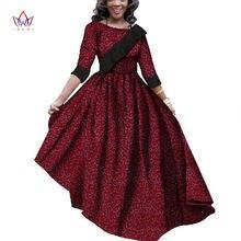 Африканские платья для женщин bintarealwax Дашики базин богатые