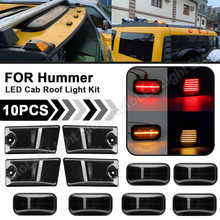10 adet füme LED taksi tavan ışığı kiti üst Marker sarı + kırmızı ışık Hummer H2 2003-2009 Hummer H2 SUT 2005-2009