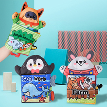 Toy Baby 0-18-Months 3D Cloth Ring-Paper Hand-Puppet Bb-Device Animal-Tail Gift Early-Education